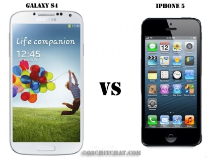 galaxy s4 vs iphone5