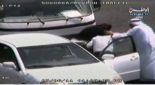 driver beaten